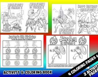 Avengers coloring book | Etsy