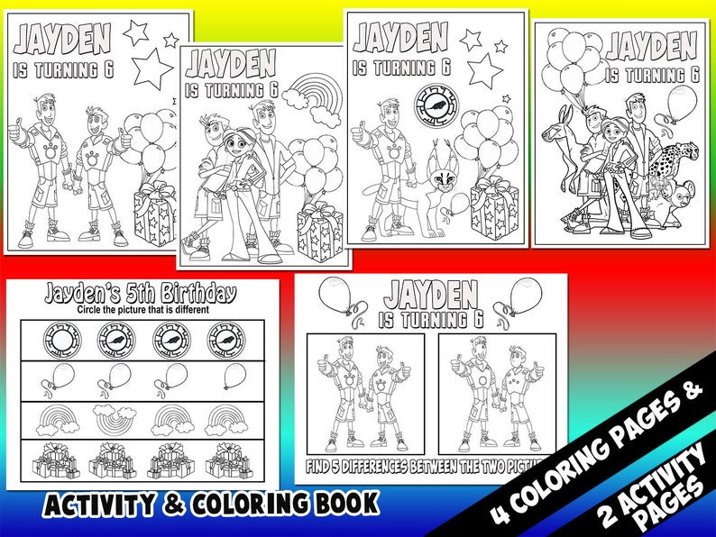 Wild Kratts Coloring And Activity Pages / Wild Kratts Coloring And Activity  Book / Wild Kratts / Coloring And Activity Pages / Digital