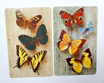 Set of 2 Butterfly Kisses Playing Cards