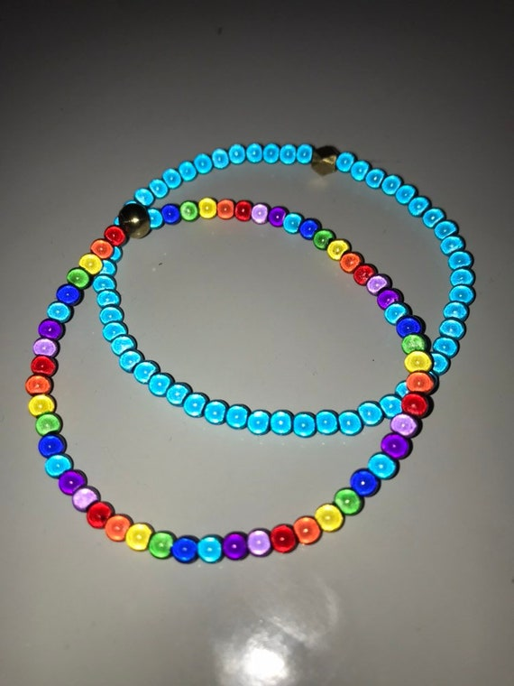 Childrens wear it with pride miracleglow bead rainbow necklace and bracelet set.
