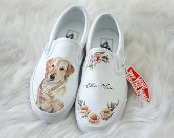 Handpainted Custom Pet Portrait Vans