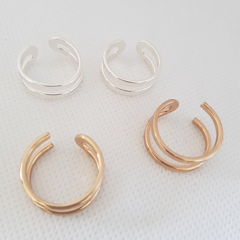 Statement ring double ring adjustable ring stacked ring