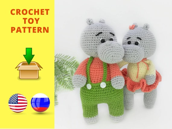 Baby Hippo Crochet Pattern » Amigurumi Crochet Patterns By ... | 428x570