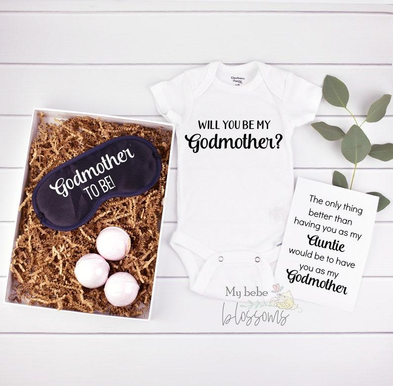 Godmother Proposal Gift Basket Box image 0