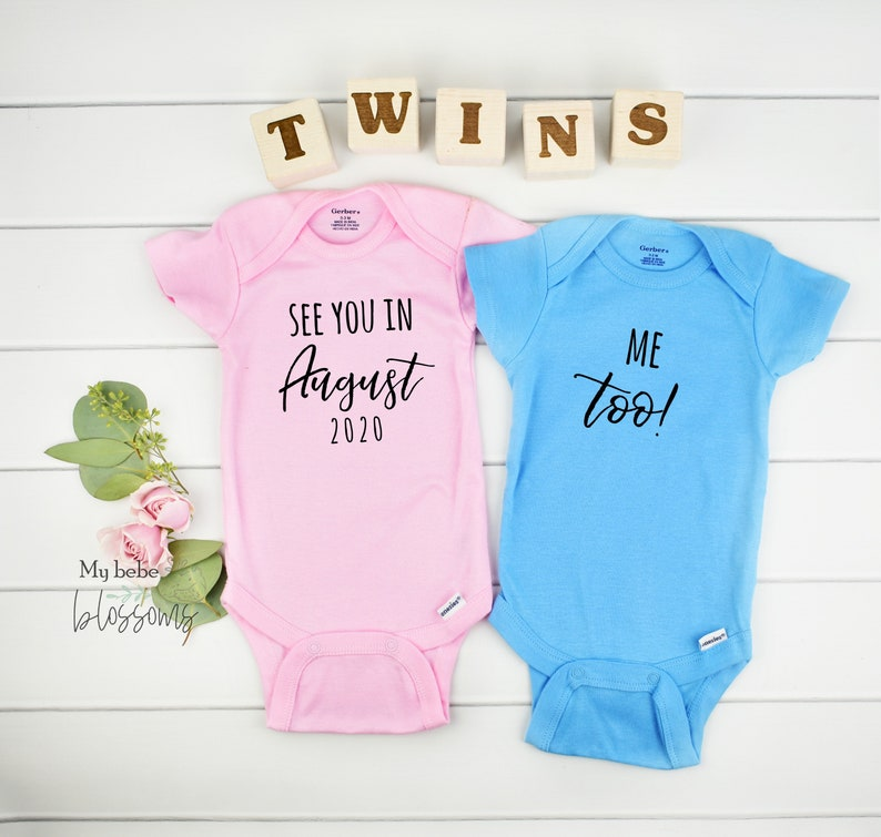 Twin Girl Boy Gender Reveal Pregnancy Announcement image 0