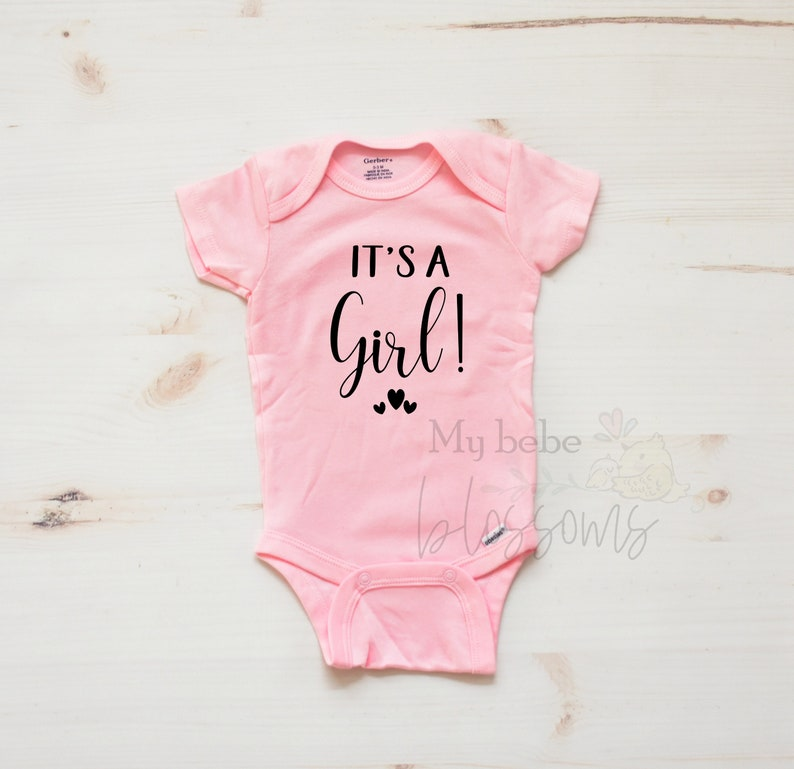 Baby Girl Gender Pregnancy Announcement in Colors image 0