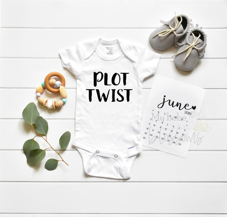 Plot Twist Pregnancy Announcement Bodysuit Onesie only