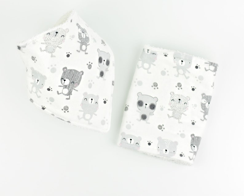 Personalized Baby burp cloth and bib image 0