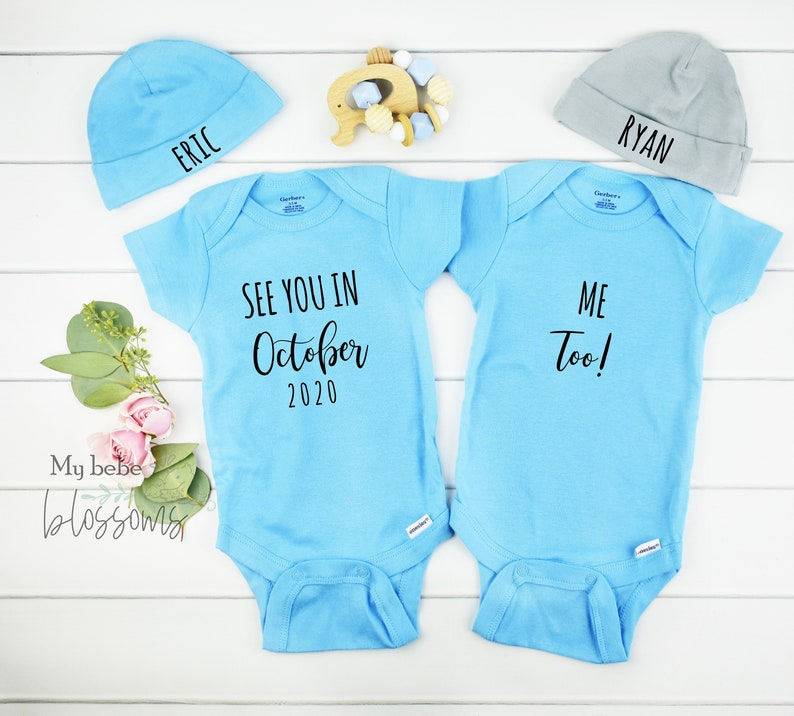 Twin Boys Gender Reveal Pregnancy Announcement image 0