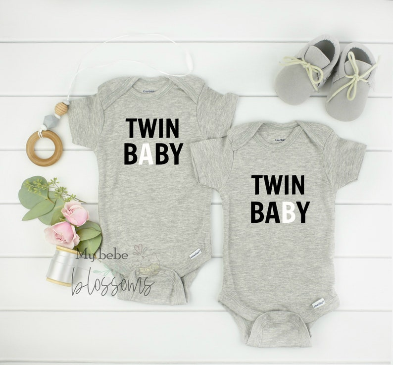 Twin Pregnancy Announcement Bodysuits image 0