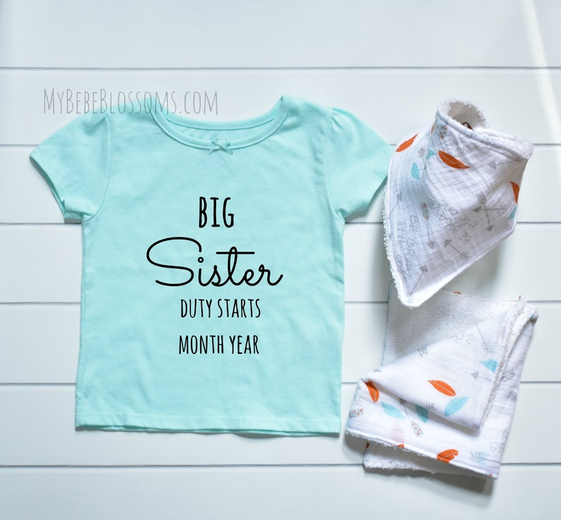 Sibling Pregnancy Announcement Shirt  Gift Set image 0