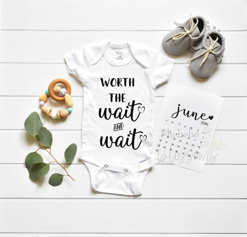 IVF Worth the Wait Pregnancy Announcement Bodysuit  Baby image 0