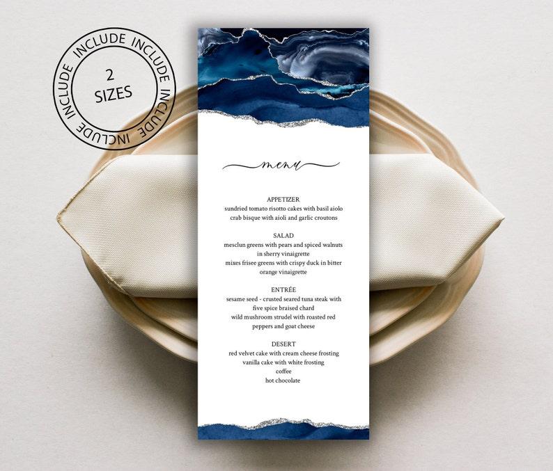 Invitation Set Invitation Suite Instant Download Wedding Invitation Blue and Silver Wedding Invitation Bundle Template Editable online