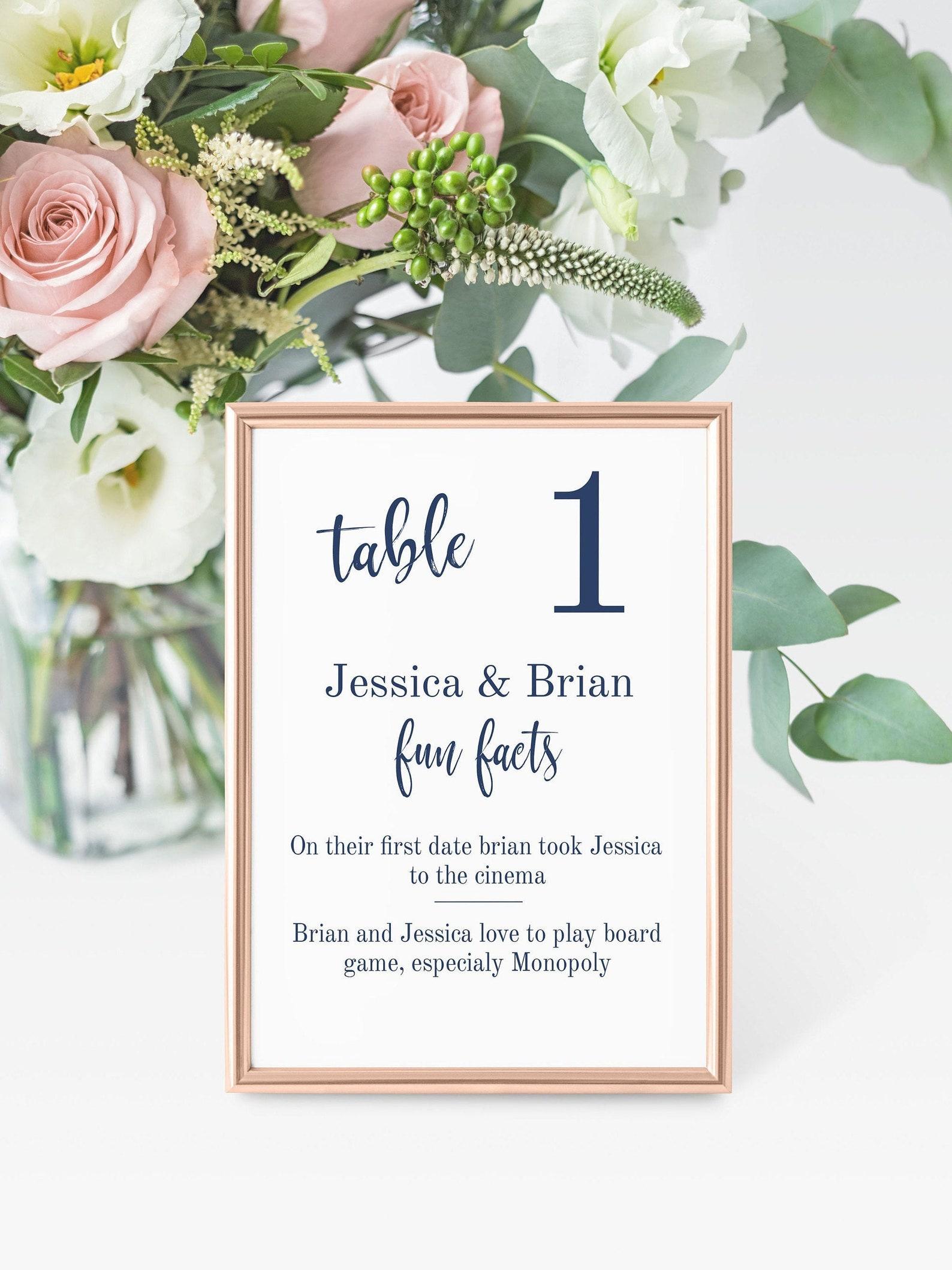 Tischnummer Ideen