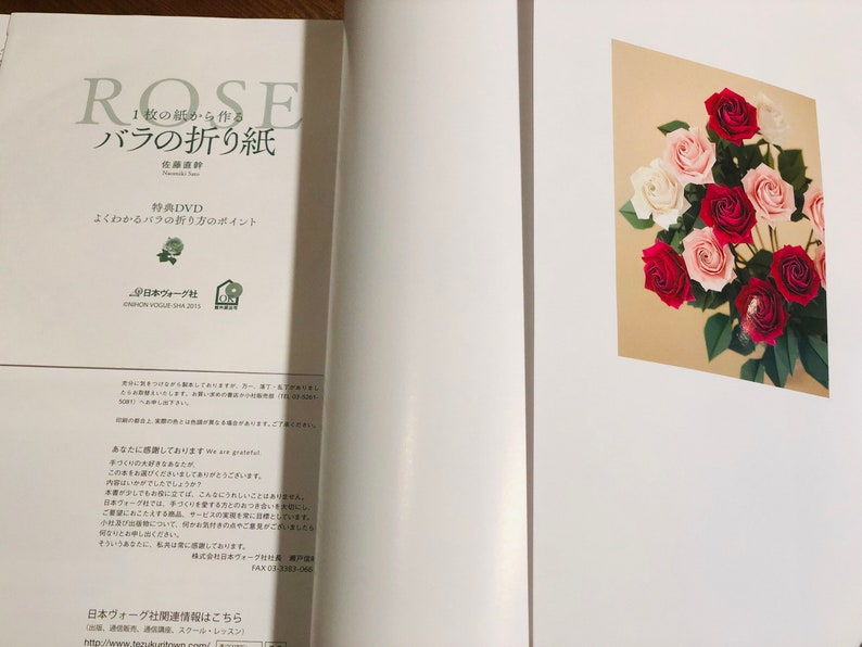 Origami Rose book wDVD in Japanese by Naomiki Sato/_Brand NEW/_Hard to Find