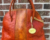 Extra Large GRACE Bag - Genuine Ostrich Skin