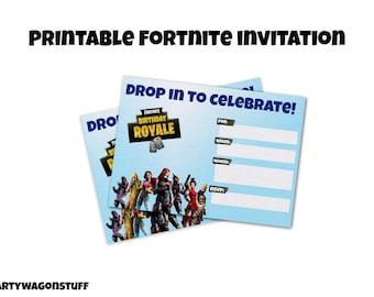 photo about Fortnite Printable titled Fortnite printable Etsy