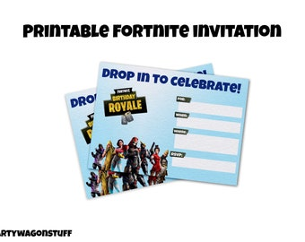 Fortnite invitation | Etsy