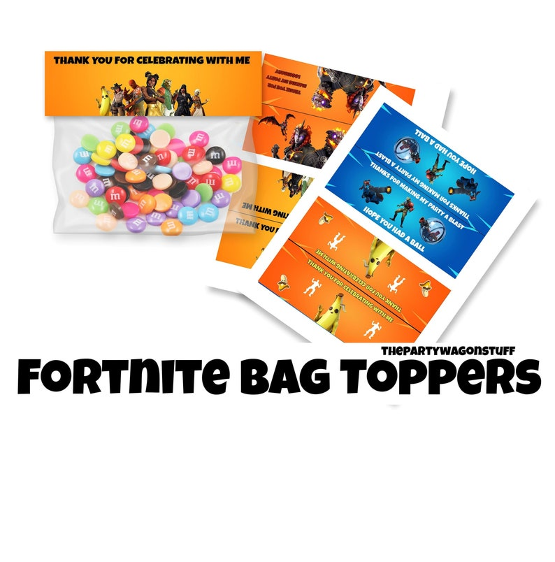 Fortnite Bag Topper Etsy