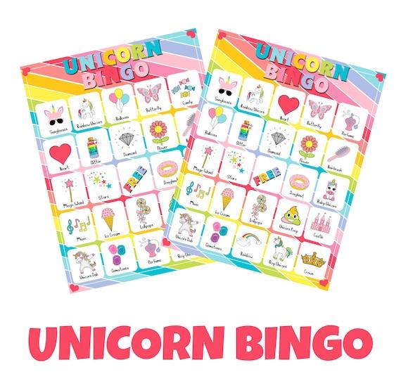 Unicorn bingo printable