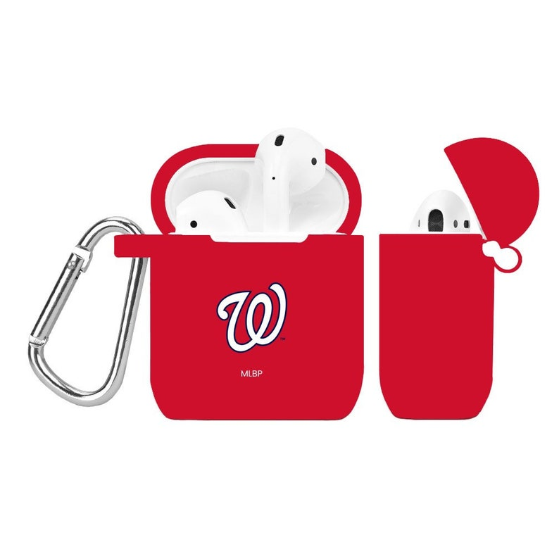 Washington Nationals Silicone Case Cover for Apple AirPod Battery Case