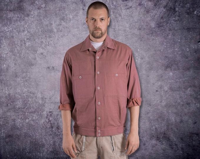 Vintage 90s rasty red color Trucker jacket Moohamenswear vintage clothing •