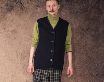 OS Trachten ® Knitted Waistcoat Mens Olive//Green in Hunting Waistcoat Vest New
