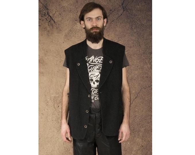 Men's vintage 90s knit Vest / vestcoat