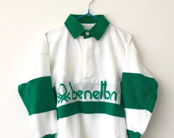 d21cbf5475b Vintage Benetton Made in Italy Kids Rugby Shirt - Benetton Polo Shirt - 4-6  Years