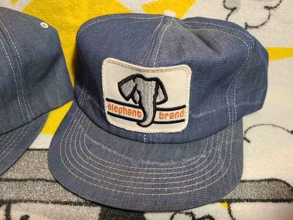 Elephant Brand Hat Lot Of 2. Denim. K Products. K… - image 3