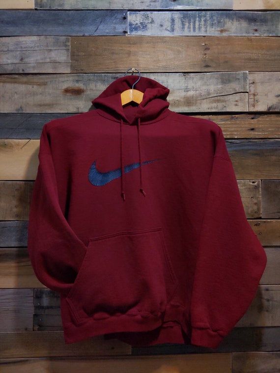 90s Nike Scribble Swoosh Hoodie, Big Sleeves 90s S