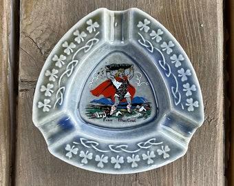 Vintage Wade Irish Porcelain Shamrock Clover Border Finn MacCoul Design Ashtray Trinket Dish Paintbrush Holder Made in Ireland