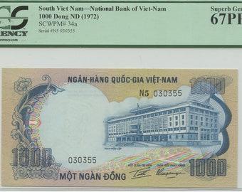 1000 Vietnam Dong Etsy
