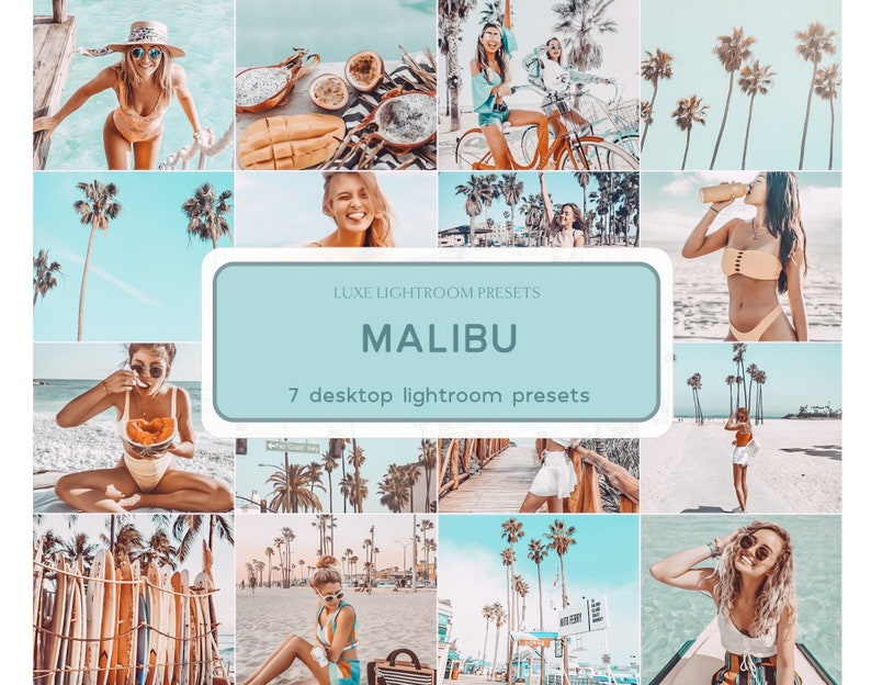 7 MALIBU Desktop Beach Presets Lightroom Presets Desktop image 0