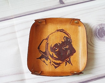 Leather Valet Tray Pug