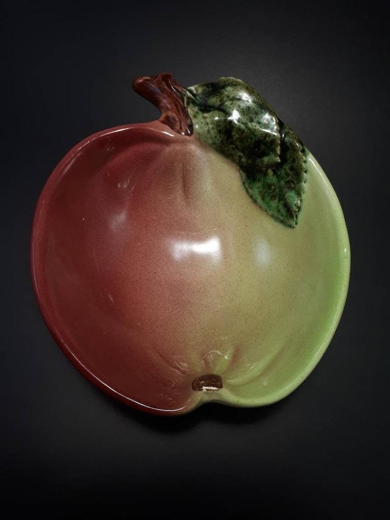 Vtg Apple Shaped Farmhouse Bowl