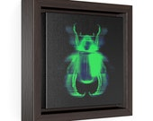 Carnal Insect Square Framed Premium Gallery Wrap Canvas