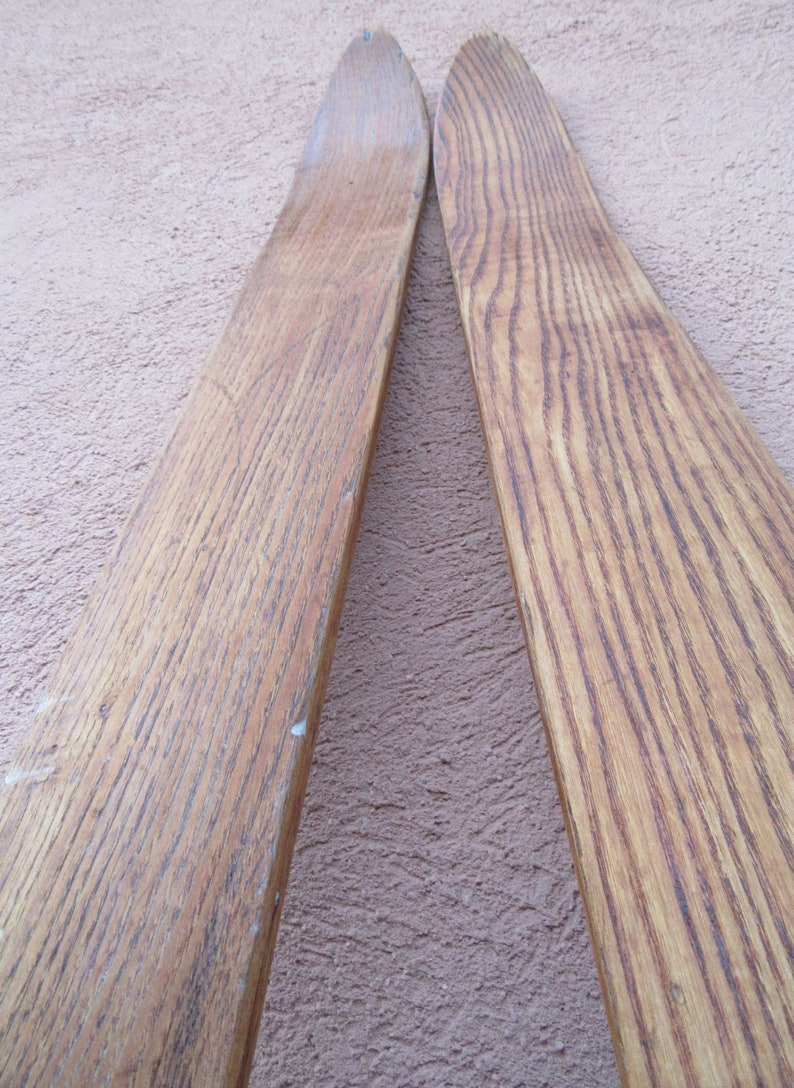Wooden Skis Vintage Skis Rustic Decoration