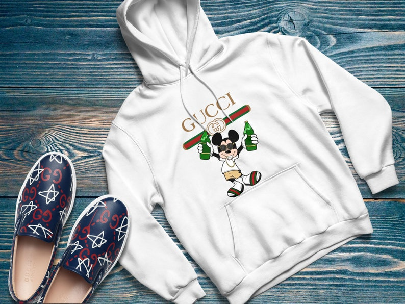 842bde8d9 Gucci hoodie Mickey Mouse inspired by Gucci Gucci hoodie | Etsy