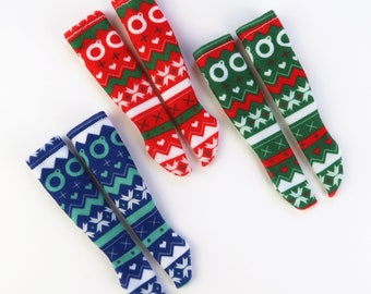 Christmas socks for dolls   Blythe, Pullip and other 1/6 scale dolls  