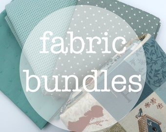 Fabric bundles in matching colors