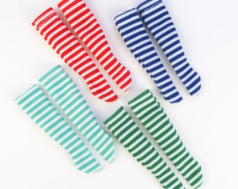 Christmas stripes socks for dolls   Blythe, Pullip and other 1/6 scale dolls  