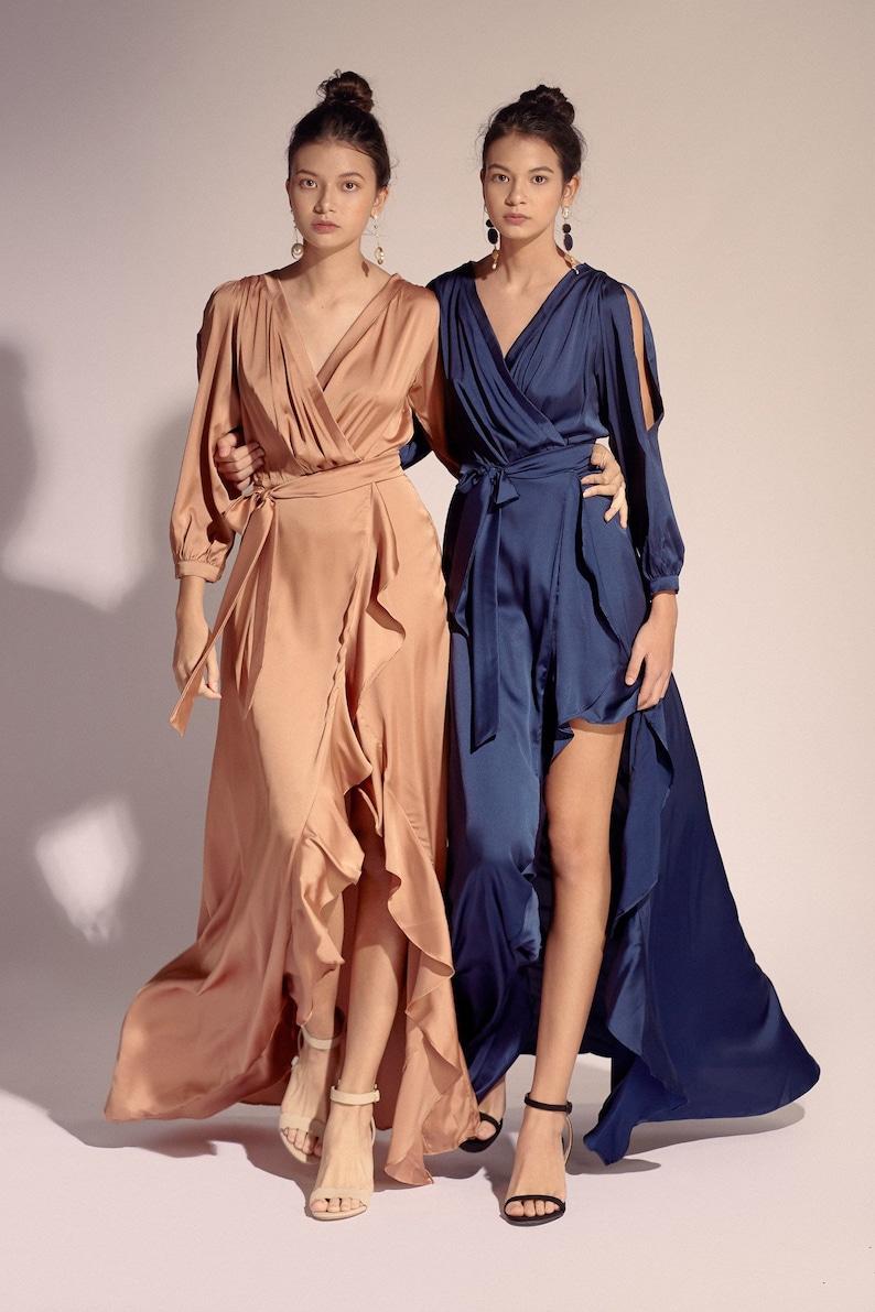 Silk Dress EMILY WRAP DRESS image 0
