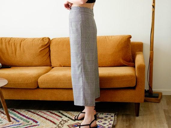 Vintage culottes / Black and white pants / 3/4 pa… - image 4