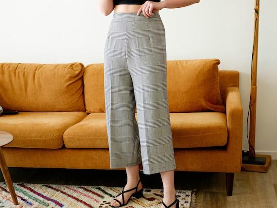Vintage culottes / Black and white pants / 3/4 pa… - image 2