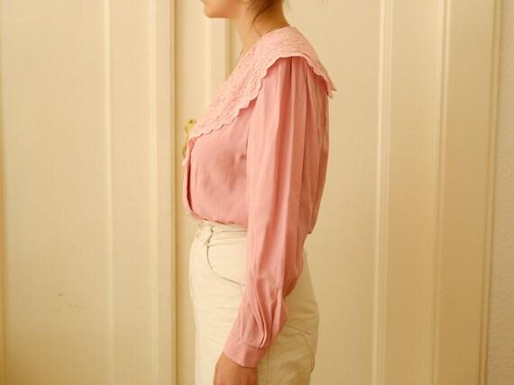 Vintage romantic blouse / Ruffle blouse / Stateme… - image 3