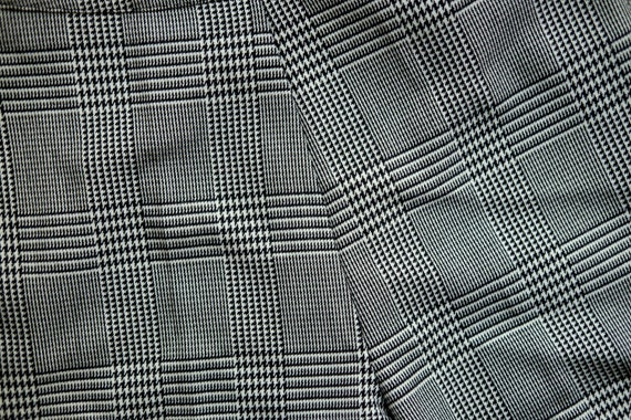 Vintage culottes / Black and white pants / 3/4 pa… - image 6