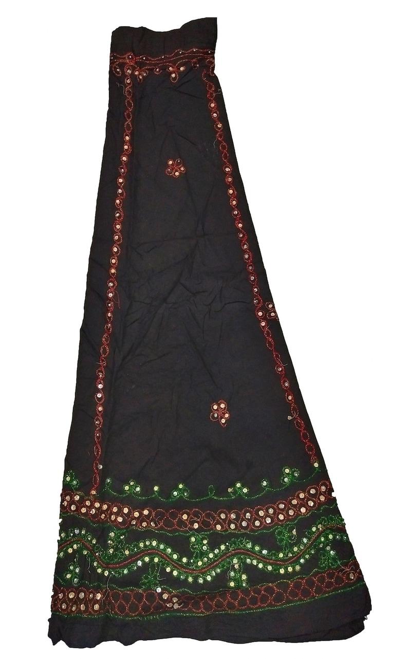 Gypsy Ethnic Banjara Vintage Skirts Tribal Boho Old Beds Embroidery Work India Belly Dance Skirt