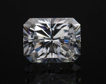 Moissanite Brillant Diamond Cut AAA Blanc 1,00 ct 6,5 mm VVS1 Couleur IJ avec certificat GRA