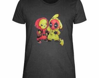 a238ac69 Pikachu deadpool twins onesie t-shirt